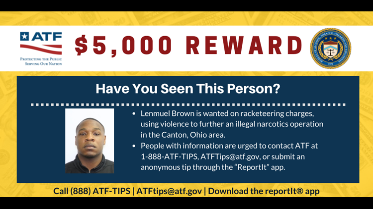 ATF searching for last wanted member of Canton gang still at large for racketeering, drug conspiracy charges
