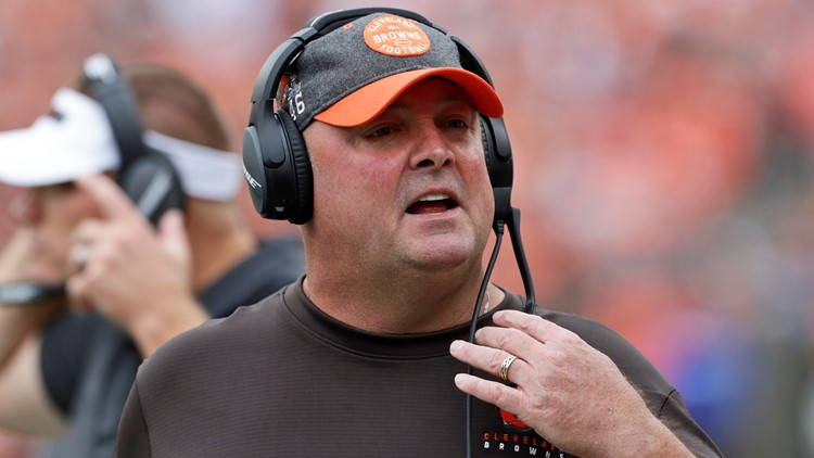 Coach Freddie Kitchens Tennessee Titans-Cleveland Browns Football