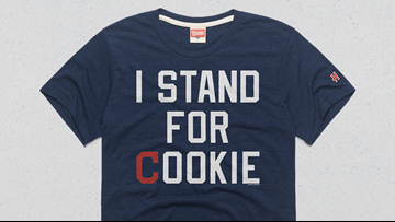 Cleveland Indians selling 'I Stand For Cookie' T-shirts in honor of Carlos Carrasco to raise money for cancer research