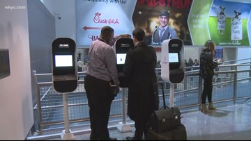 Finger print, eye scanning technology added for passengers at Cleveland Hopkins Airport