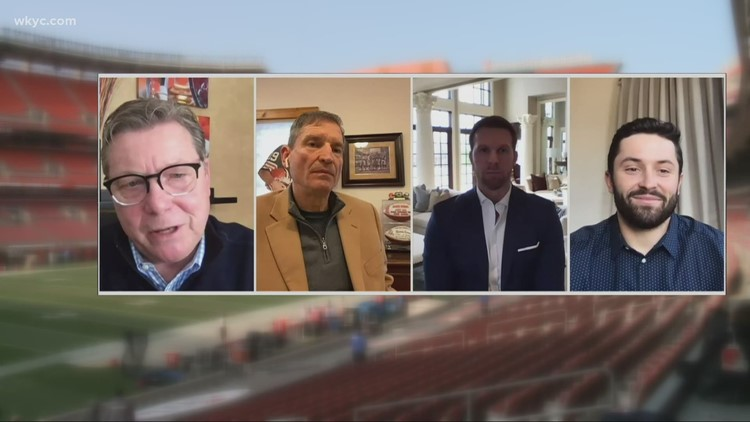 'Voice of the Browns' Jim Donovan sits down for discussion with quarterbacks Baker Mayfield, Bernie Kosar, and Tim Couch