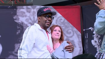 Grammy winning R&B star Bobby Brown meets fans at Rock Hall and makes donation to museum