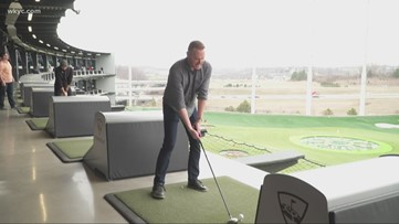 Mike Polk heads to Topgolf for grand opening in Independence