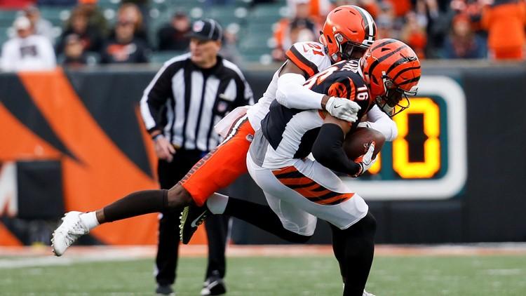 Denzel Ward Cleveland Browns-Cincinnati Bengals Football