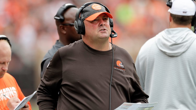 Freddie Kitchens Tennessee Titans-Cleveland Browns Football
