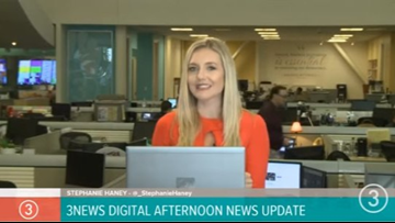WATCH | 3News' Stephanie Haney anchors digital afternoon news update