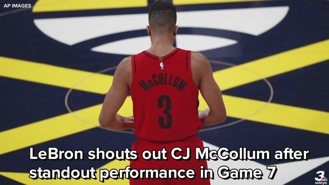 8db384c7faa1 LeBron James shouts out CJ McCollum after standout performance in Game 7 of  West Semis