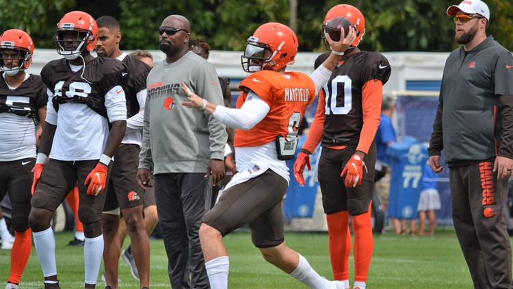 Baker Mayfield Cleveland Browns joint practice with Indianapolis Colts August 14, 2019