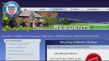 City of Akron no longer accepting glass for recycling