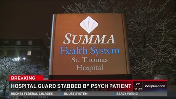 Police: Hospital guard stabbed by psych patient | wkyc com