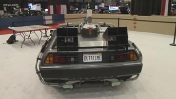 Famous cars from 'Back To The Future' and 'Knight Rider' on display at Cleveland Auto Show