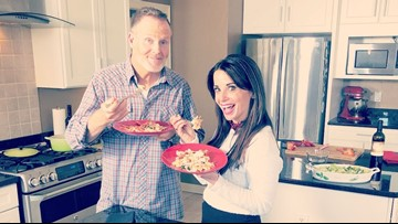Hollie Strano teams up with Mark Nolan to cook 'Nolan's Noodles' in first edition of 'Home with Hollie'