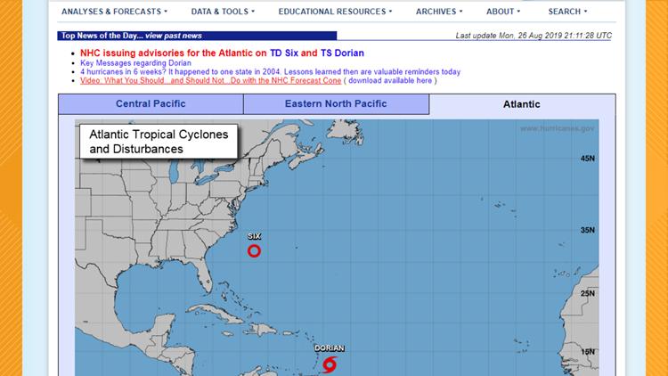 National Hurricane Center Website