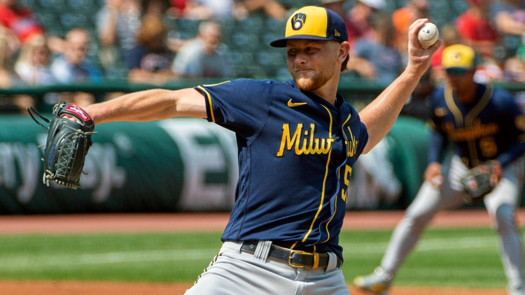 Elyria native Eric Lauer takes no-no into 6th, Milwaukee Brewers hit 5 HRs in 11-1 rout of Cleveland Indians