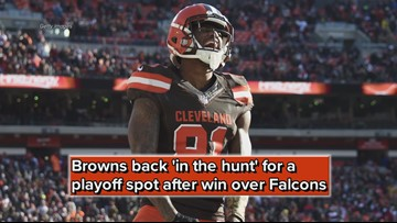 Cleveland Browns back 'in the hunt' for a playoff spot after win over Atlanta Falcons