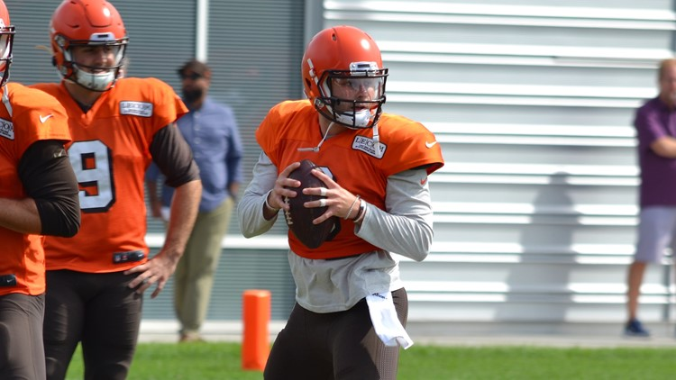 Baker Mayfield Cleveland Browns Practice August 26, 2019