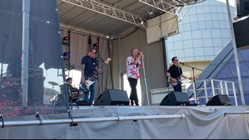 WKYC speaks with Cleveland rock band Rumbling Spires at Rock Hall's 'Sun Sets' series of free Friday concerts