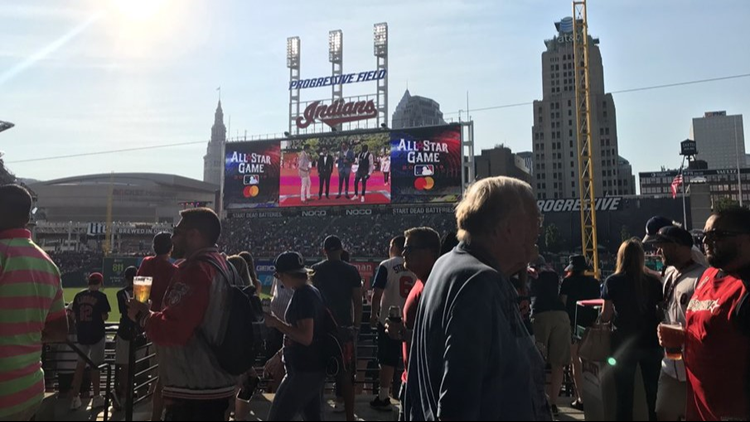 Fans fill Progressive Field prior to MLB All Star Game in Cleveland