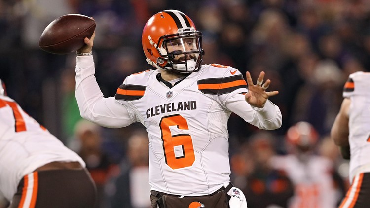 Cleveland Browns QB Baker Mayfield vs. Baltimore Ravens