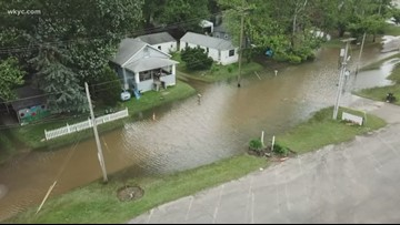 Counties south of Cleveland are still facing severe flooding