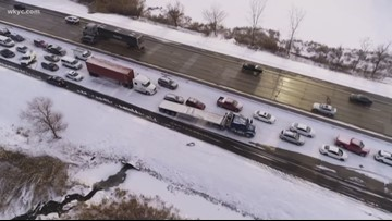 60-car pileup stalls traffic on Route 8 north in Hudson