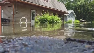 Inside the flood zone at Luna Lake: Some residents fearing homes are a total loss