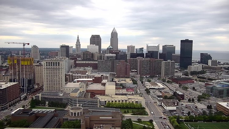 Downtown Cleveland on August 12, 2019