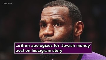 Lakers star LeBron James apologizes for 'Jewish money' post on Instagram story