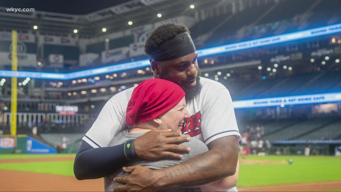 Cleveland Indians' Franmil Reyes surprises cancer patient with message of love and support