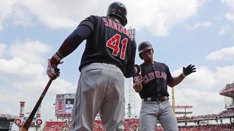 Carlos Santana Francisco Lindor Indians Reds Baseball