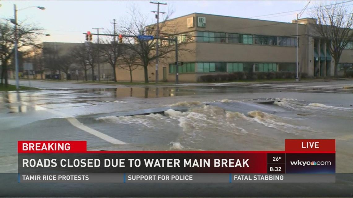 Roads closed due to water main break | wkyc com