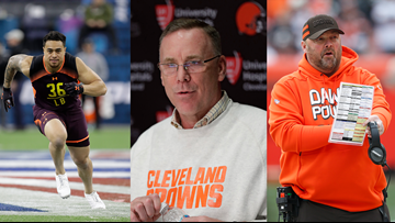Let's Be Clear: Cleveland Browns GM John Dorsey, head coach Freddie Kitchens, and LB Sione Takitaki