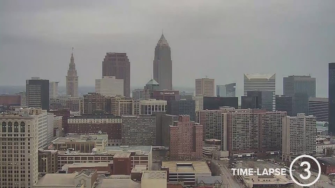 Saturday Cleveland weather time-lapse for December 12, 2020