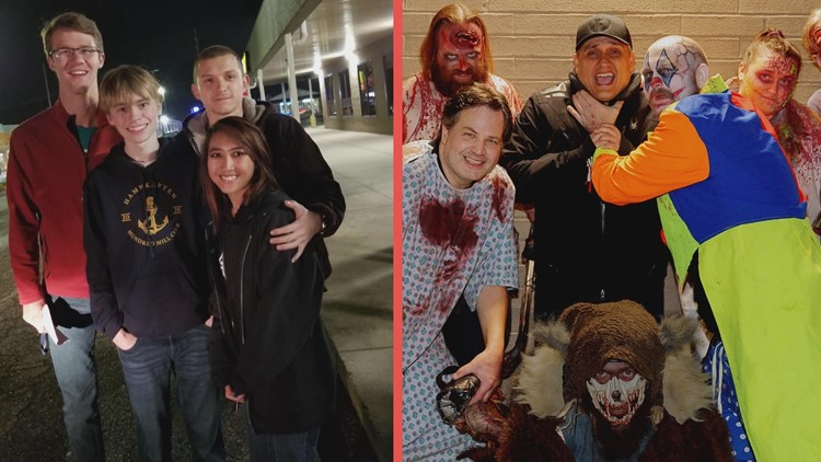 'Spider-Man' star Tom Holland spotted with director Joe Russo at Mansfield Reformatory and Ghoul Bros. haunted house in Akron