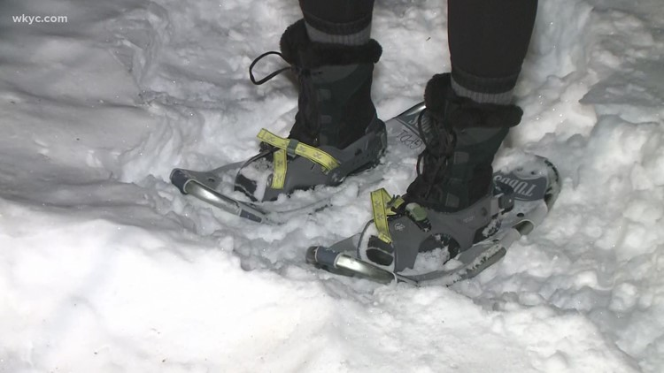 Need exercise in the winter? Try snowshoeing in Geauga County!