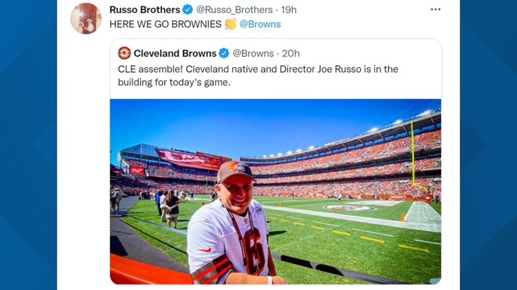 'Avengers' director Joe Russo brings superhero star power to Cleveland Browns game