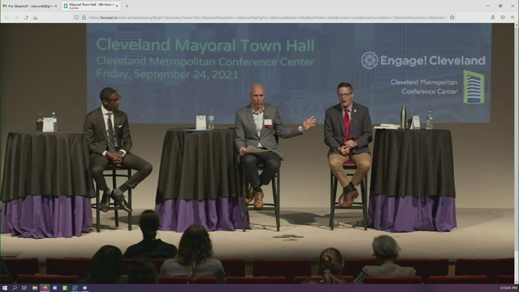 Kevin Kelley and Justin Bibb spar over COVID-19 pandemic relief during mayoral town hall