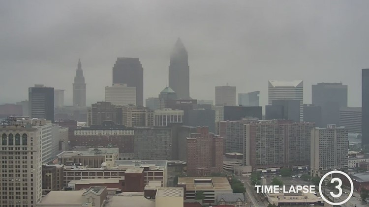 Sunday Cleveland weather time-lapse for July 11, 2021