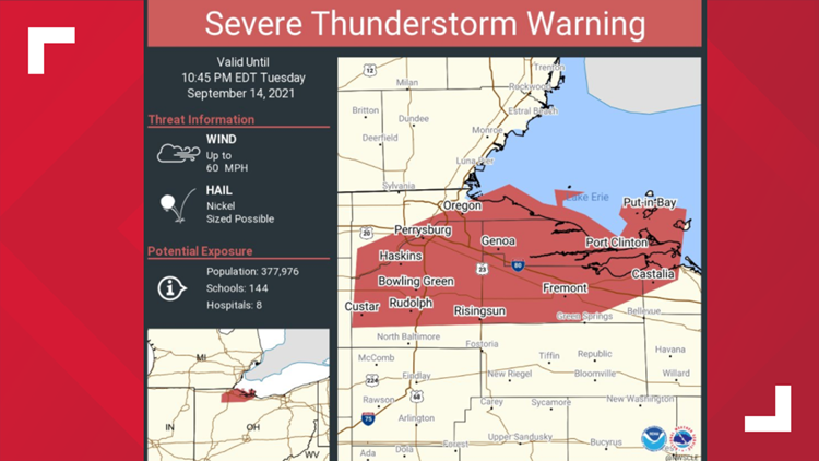 Severe Thunderstorm Warning issued for Erie County ends
