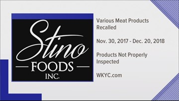 USDA recalls more than 11,000 pounds of Stino da Napoli products due to lack of inspection