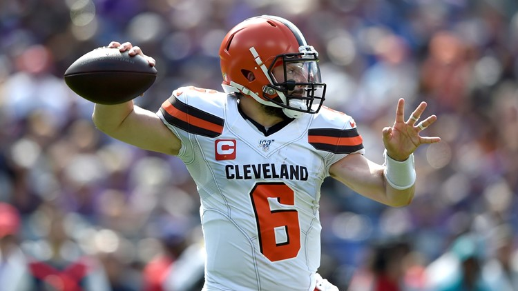 Baker Mayfield Cleveland Browns-Baltimore Ravens Football