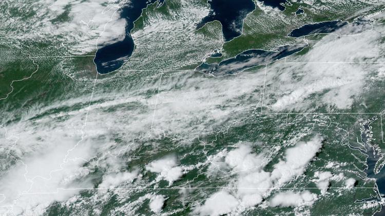 Satellite image on August 22, 2019
