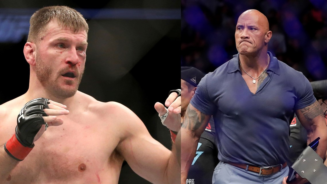 The Rock: 'I can take UFC champion Stipe Miocic…to lunch'