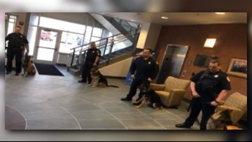 Beachwood Police swears in two new K-9 officers