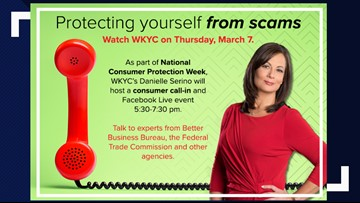 WATCH LIVE | Protecting yourself from scams: WKYC hosts phone bank to connect you with expert advice