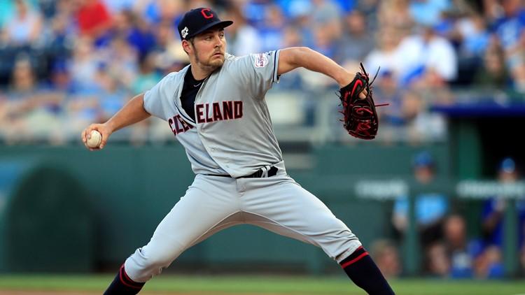 Trevor Bauer Cleveland Indians-Kansas City Royals Baseball