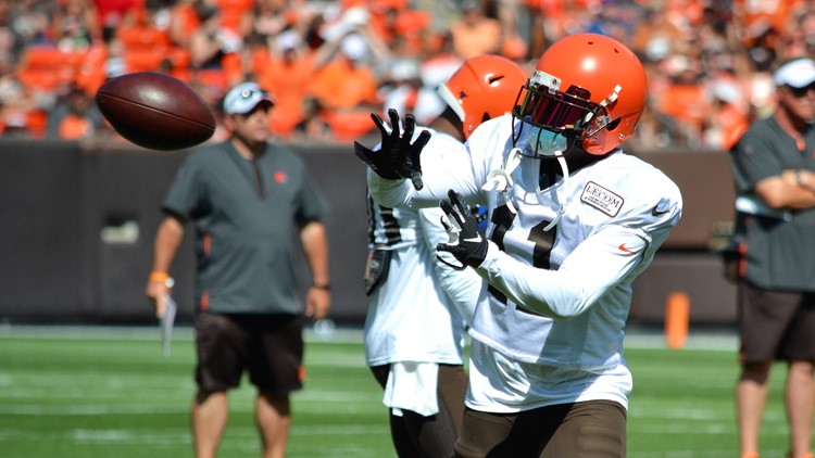 Antonio Callaway Cleveland Browns' Orange and Brown Scrimmage-August 3, 2019