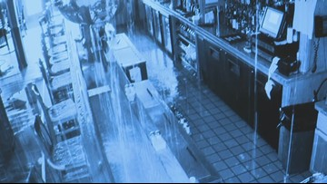 Security camera reveals water damage from burst pipe at Sully's
