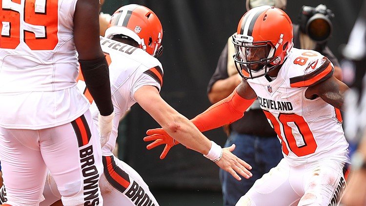 Jarvis Landry Baker Mayfield Cleveland Browns-Oakland Raiders Football