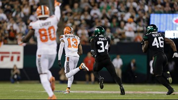'He's arrived!' | Listen to Jim Donovan call Odell Beckham Jr.'s 89-yard TD in Cleveland Browns' win over New York Jets